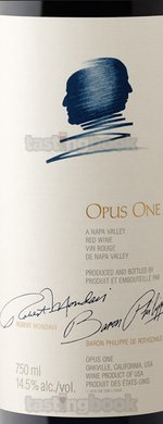 Red wine, Opus One 2011
