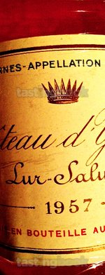 White wine, d'Yquem 1957