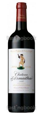 Red wine, Château D´Armailhac 2008