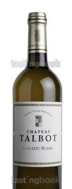 White wine, Château Talbot Caillou Blanc 2015