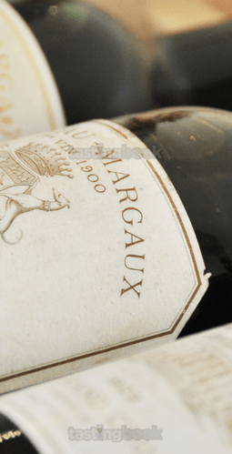Red wine, Château Margaux 1900