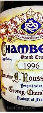 Red wine, Chambertin 1996