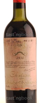 Red wine, Château Mouton-Rothschild 1934