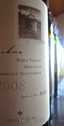 Red wine, Joseph Phelps Backus Vineyard Cabernet Sauvignon 2008