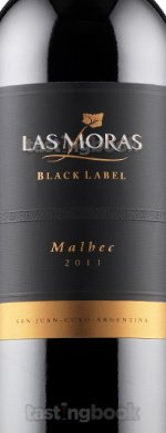 Red wine, Las Moras Black Label Malbec 2011