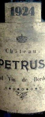 Red wine, Pétrus 1924