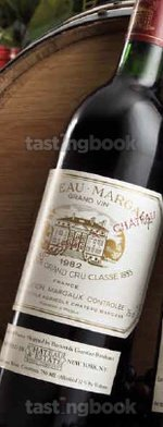 Red wine, Château Margaux 1982