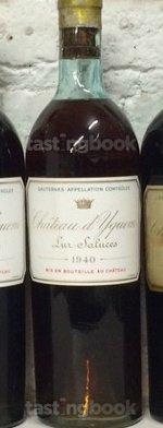 White wine, d'Yquem 1940