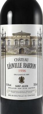 Red wine, Chateau Leoville-Barton 1996
