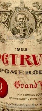 Red wine, Pétrus 1963