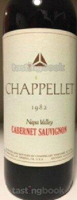 Red wine, Chappellet Signature Cabernet Sauvignon 1982