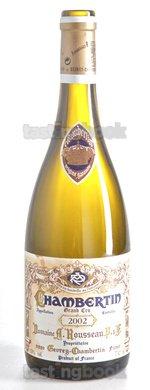 Red wine, Chambertin 2002