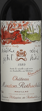 Red wine, Château Mouton-Rothschild 1989