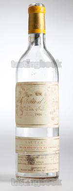 Sparkling wine, d'Yquem 1986