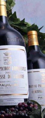 Red wine, Château Pichon Longueville Comtesse de Lalande 2001