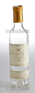 Sweet wine, d'Yquem 1998