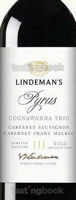 Red wine, Lindemans Trio Pyrus 2018