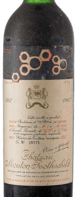 Red wine, Château Mouton-Rothschild 1967