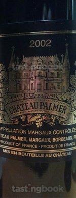 Red wine, Château Palmer 2002