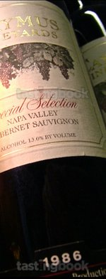 Red wine, Special Selection Cabernet Sauvignon 1986