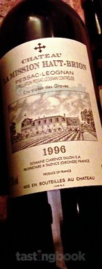 Red wine, La Mission Haut Brion 1996