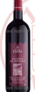 Red wine, Château Ksara Reserve du Couvent 2009