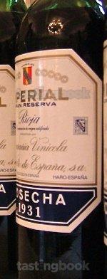 Red wine, Imperial Gran Reserva 1931