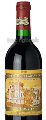 Red wine, Chateau Ducru-Beaucaillou 1990