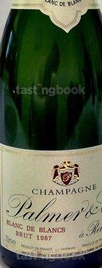 Sparkling wine, Blanc de Blancs Millesime 1987