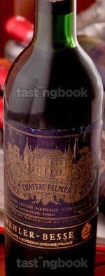 Red wine, Château Palmer 1959