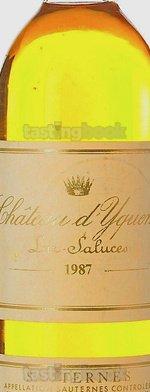 Sweet wine, d'Yquem 1987