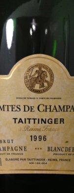 Sparkling wine, Comtes de Champagne 1996