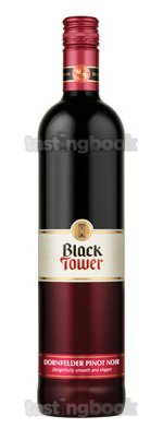 Red wine, Black Tower Dornfelder Pinot Noir 2011