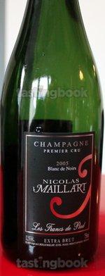 Sparkling wine, Les Francs du Pied Blanc de Noirs Extra Brut 2005