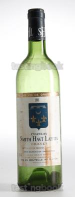 White wine, Château Smith Haut Lafitte Blanc 1981