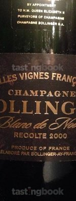 Sparkling wine, Vieilles Vignes Françaises 2000