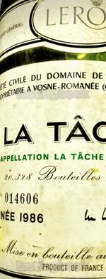 Red wine, La Tâche 1986