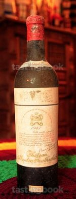 Red wine, Château Mouton-Rothschild 1947