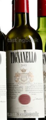 Red wine, Tignanello 2003