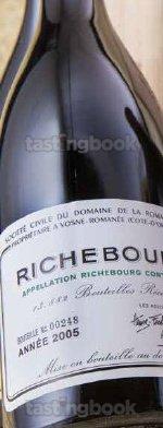 Red wine, Richebourg 2005