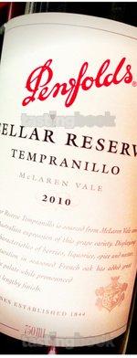 Red wine, Cellar Reserve Tempranillo 2010