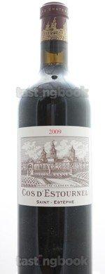 Red wine, Château Cos d'Estournel 2009