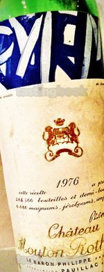 Red wine, Château Mouton-Rothschild 1976