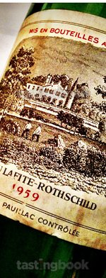 Red wine, Lafite-Rothschild 1959