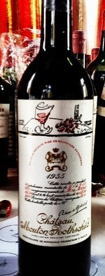 Red wine, Château Mouton-Rothschild 1955
