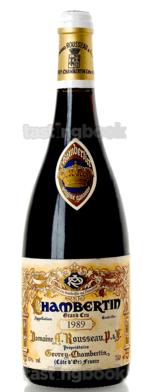 Red wine, Chambertin 1989