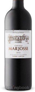 Red wine, Château Marjosse 2015