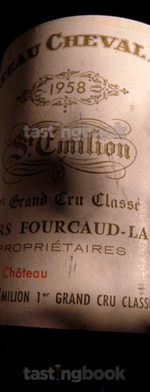Red wine, Cheval Blanc 1958