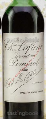 Red wine, Lafleur 1966