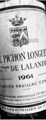 Red wine, Château Pichon Longueville Comtesse de Lalande 1961